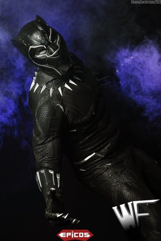 black panther costume cosplay screen print