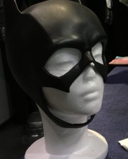 batgirl bat girl cosplay from batman dc comics, rubber mask