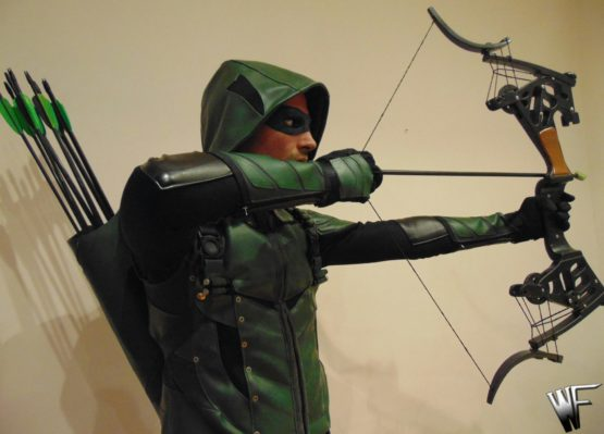 Green arrow costume cosplay, freccia verde dc comincs