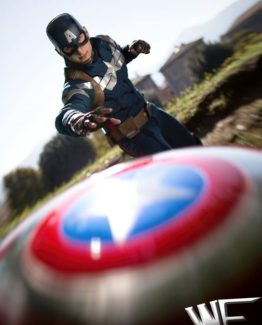 Captain america cosplay costume the winter soldier
