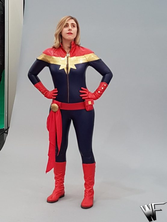 Captain marvel costume cosplay