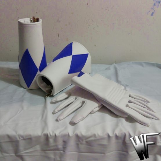Power ranger cosplay gloves and bracers cuffs