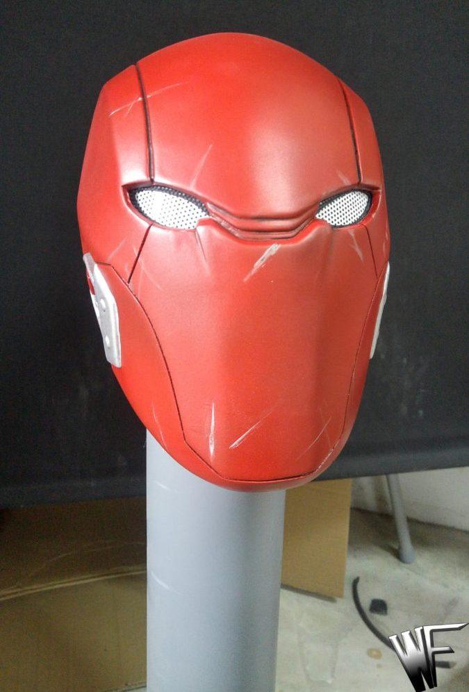 Red hood cosplay helmet