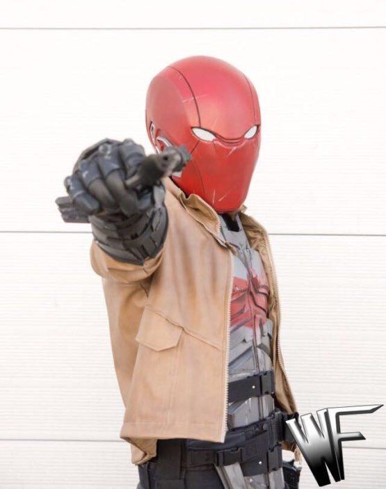 Red hood cosplay armor