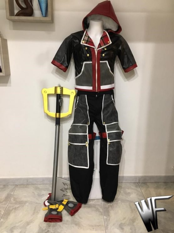 sora kingdom hearts cosplay costume