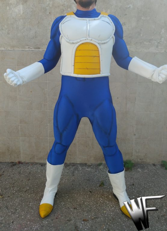 vegeta armor and muscle suit paint cosplay