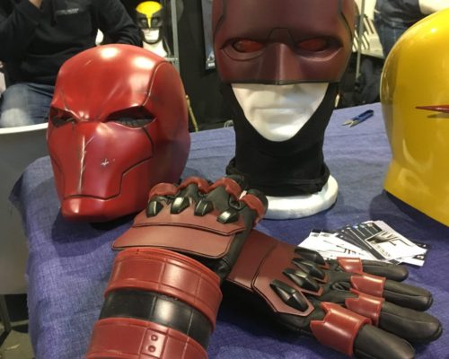 Cartoomics 2019 waynefactory cosplay costuming with armor cosplay and superhero