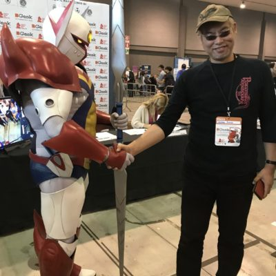 bgeek 2019 con gundam e tekkaman e maestro  hayama jun-ichi waynefactory cosplay and costuming