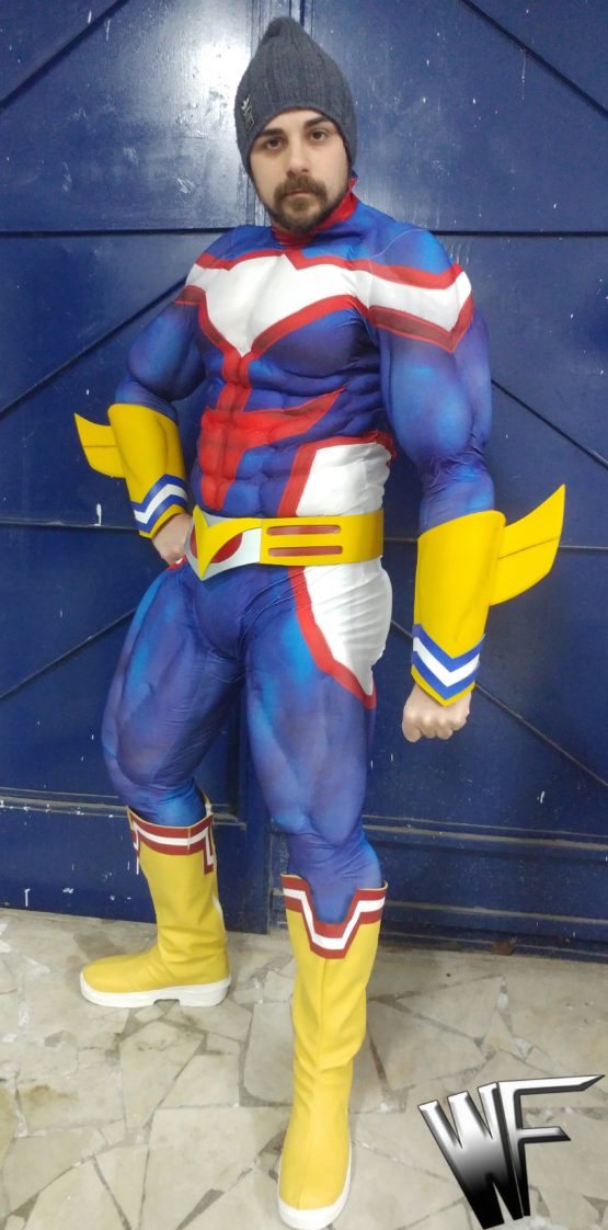 all might cosplay from my hero academia anime